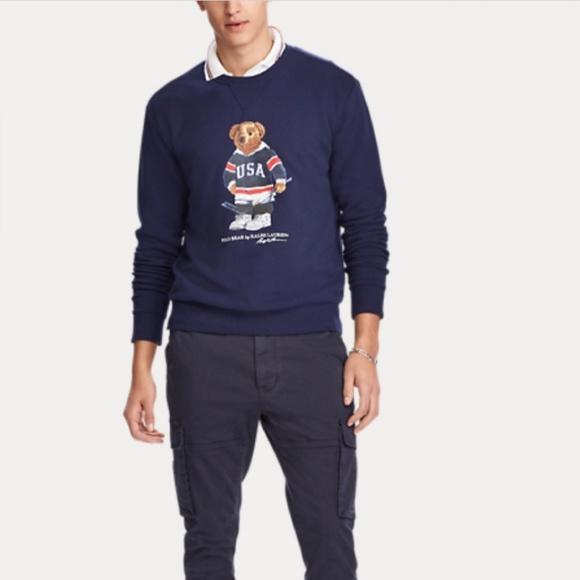57a6f486aa Polo Ralph Lauren Hockey Bear Sweatshirt NWT